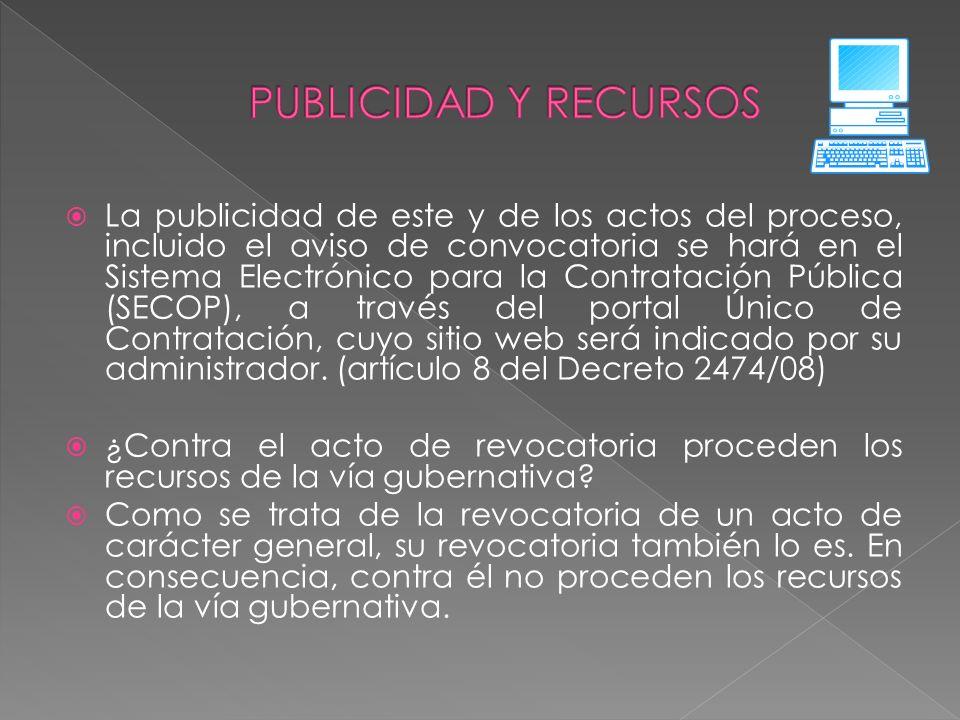 PUBLICIDAD Y RECURSOS