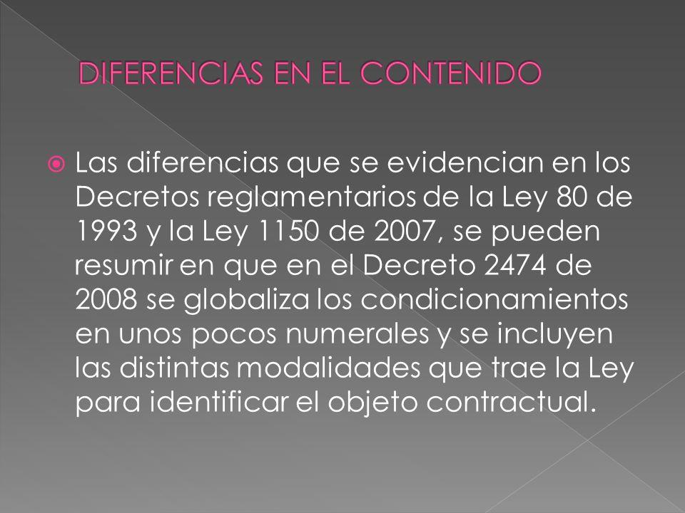 DIFERENCIAS EN EL CONTENIDO