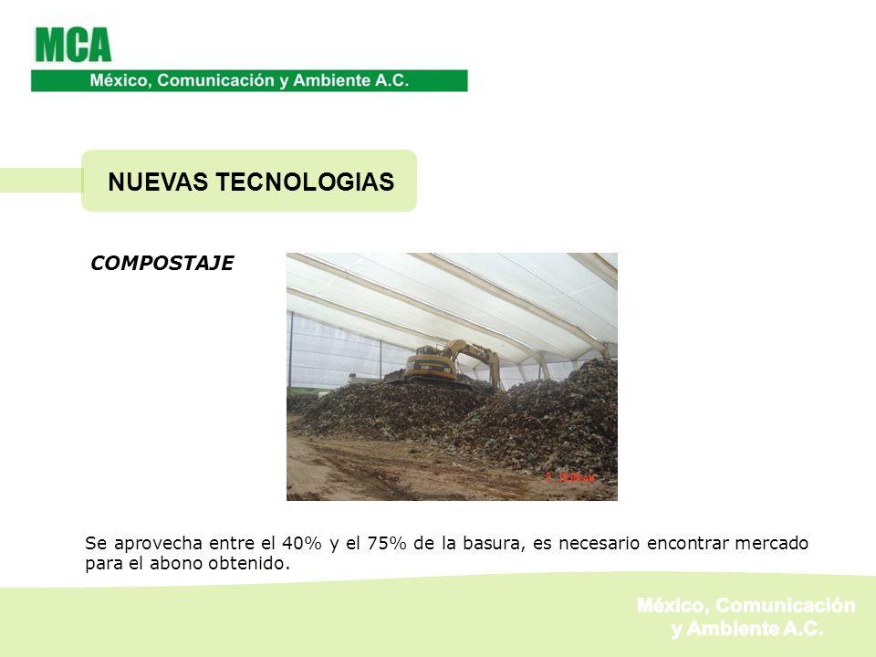 NUEVAS TECNOLOGIAS México, Comunicación y Ambiente A.C. COMPOSTAJE