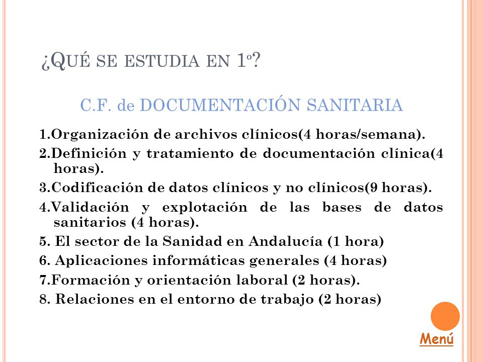 C.F. de DOCUMENTACIÓN SANITARIA