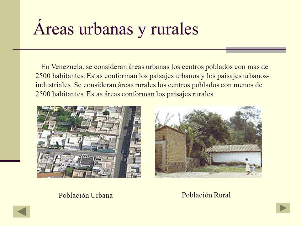 Áreas urbanas y rurales