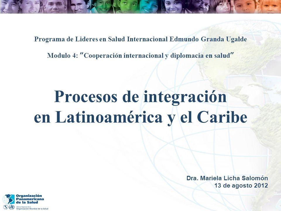 Procesos de integración en Latinoamérica y el Caribe