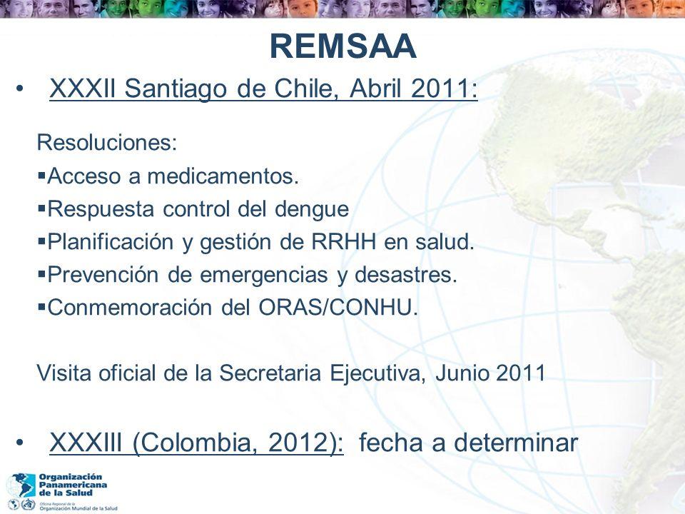 REMSAA XXXII Santiago de Chile, Abril 2011: