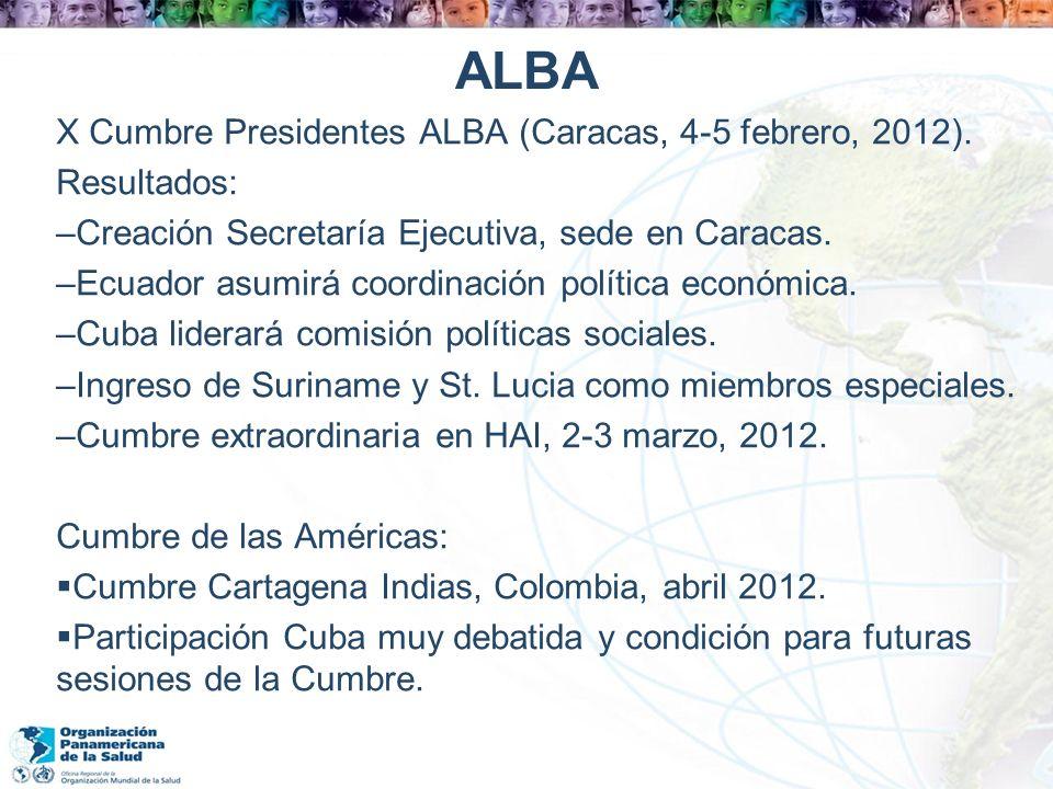 ALBA X Cumbre Presidentes ALBA (Caracas, 4-5 febrero, 2012).