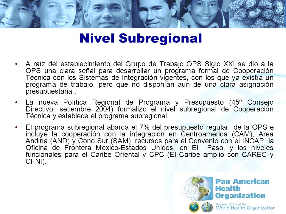 Nivel Subregional
