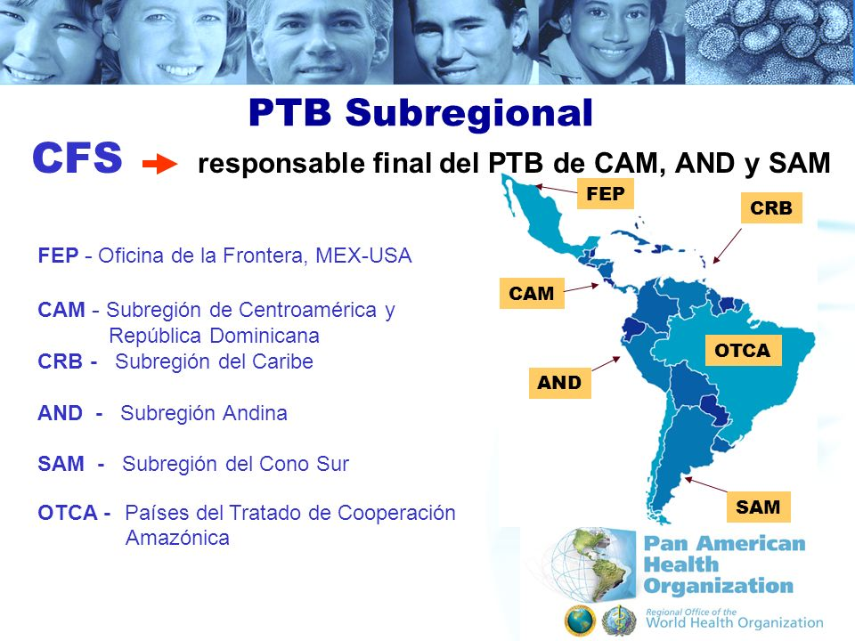 CFS responsable final del PTB de CAM, AND y SAM
