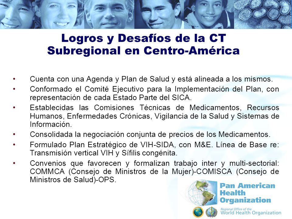 Logros y Desafíos de la CT Subregional en Centro-América