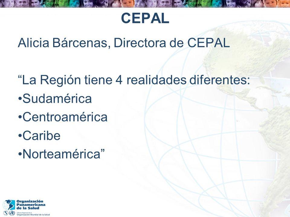 CEPAL Alicia Bárcenas, Directora de CEPAL