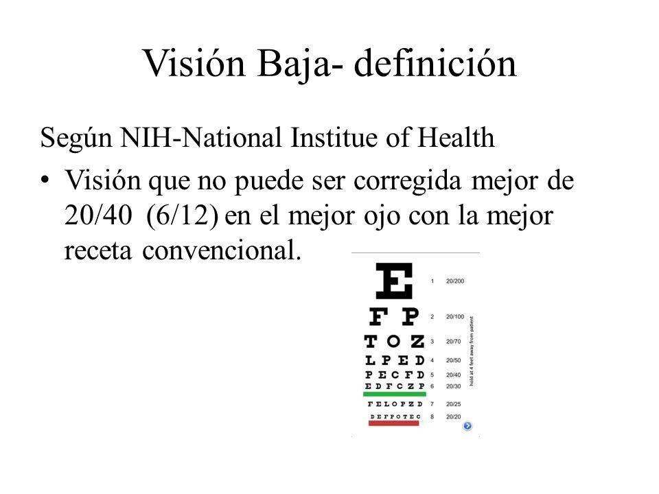 Visión Baja- definición