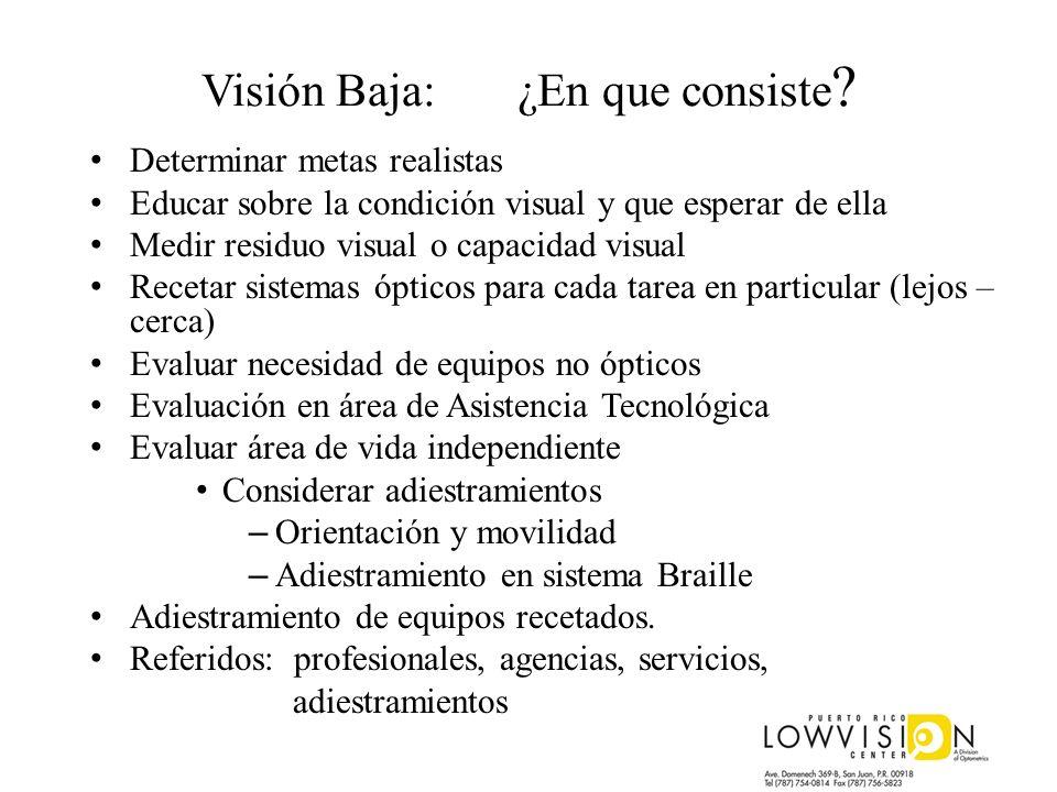 Visión Baja: ¿En que consiste