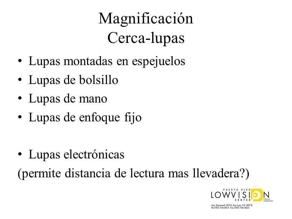 Magnificación Cerca-lupas