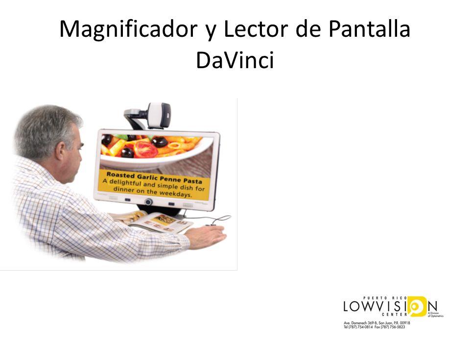 Magnificador y Lector de Pantalla DaVinci