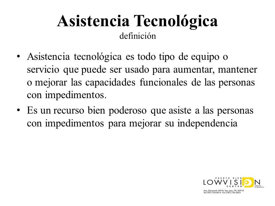 Asistencia Tecnológica definición