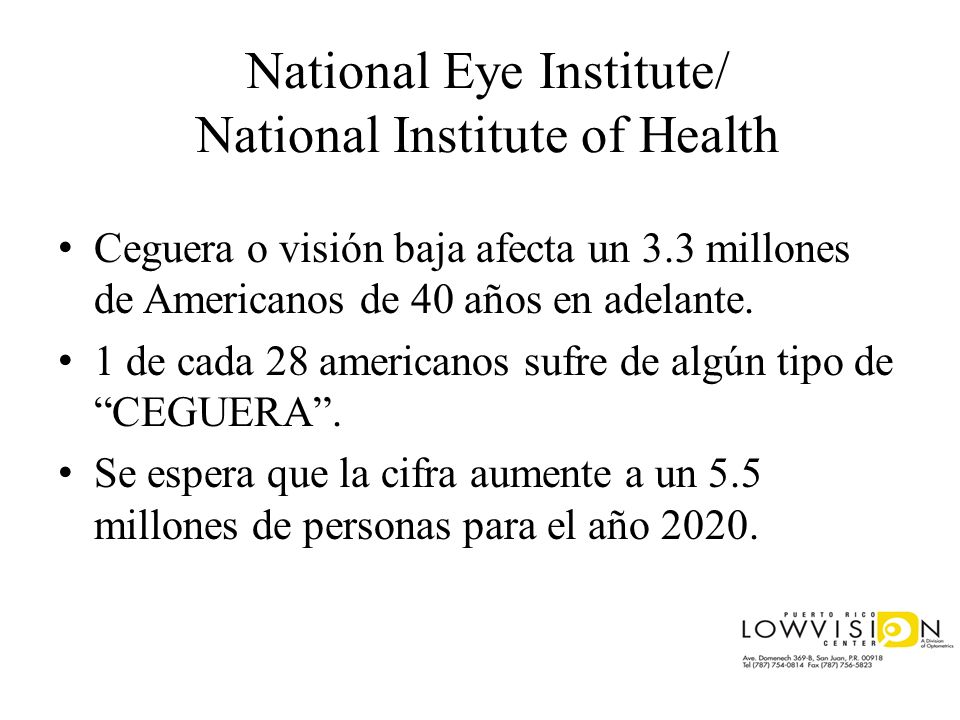National Eye Institute/ National Institute of Health