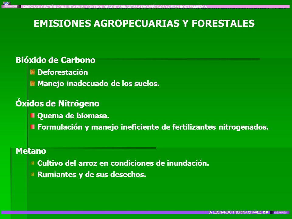 EMISIONES AGROPECUARIAS Y FORESTALES