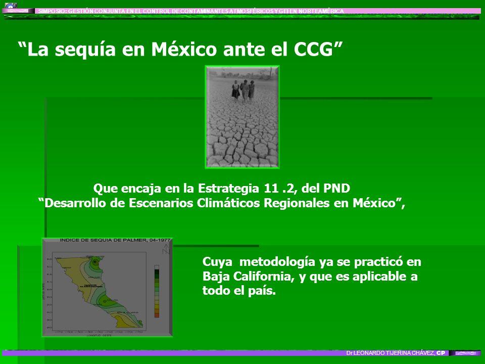 La sequía en México ante el CCG