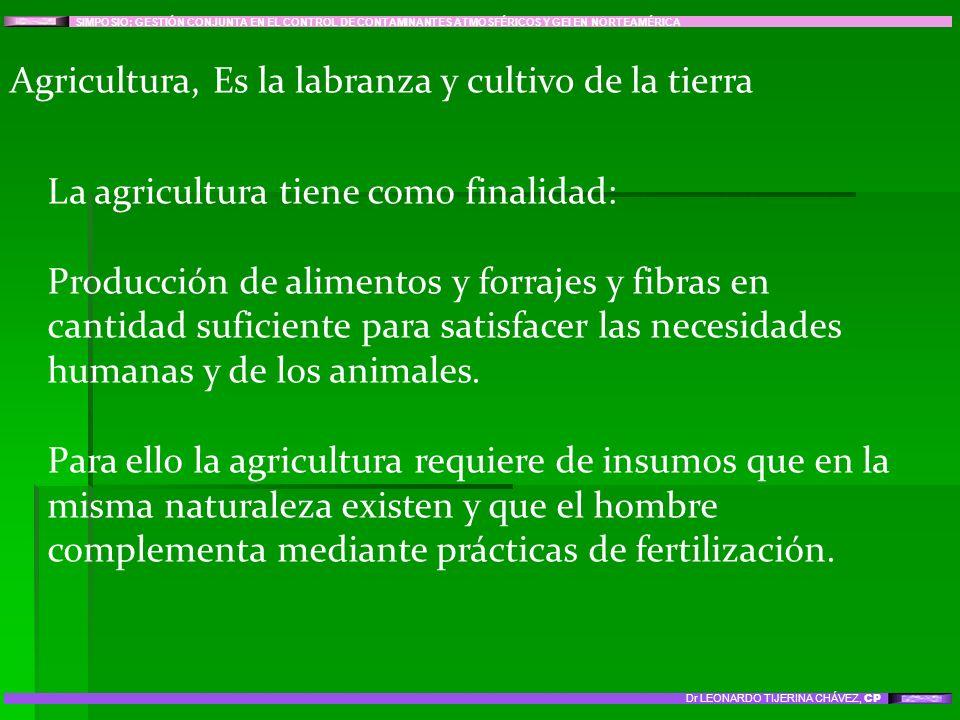 Agricultura, Es la labranza y cultivo de la tierra