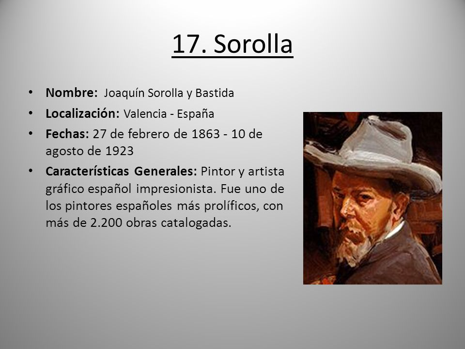 cool stunning sorolla nombre joaqun sorolla y bastida with nombres de pintores famosos with nombres de pintores famosos - Nombres De Pintores Famosos