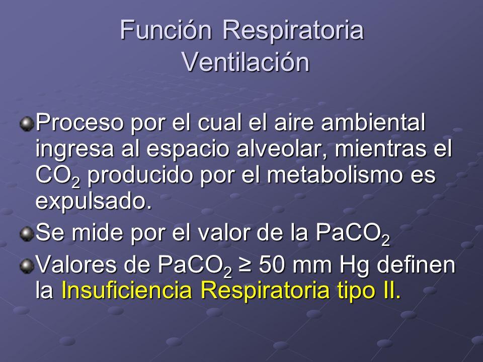 Función Respiratoria Ventilación