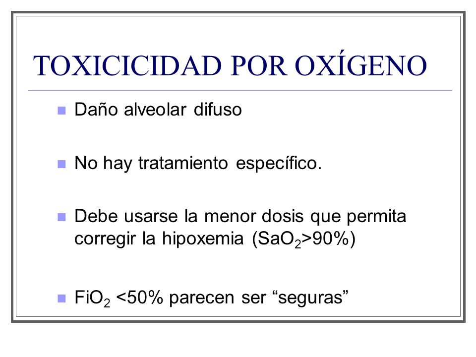 TOXICICIDAD POR OXÍGENO