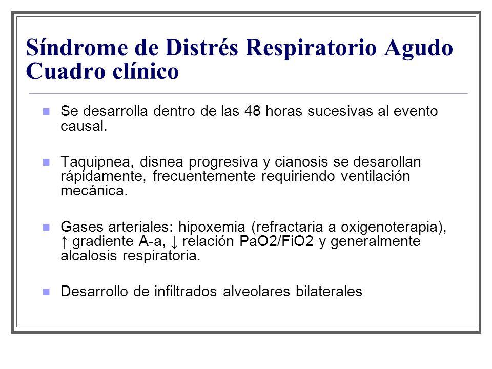 Síndrome de Distrés Respiratorio Agudo Cuadro clínico