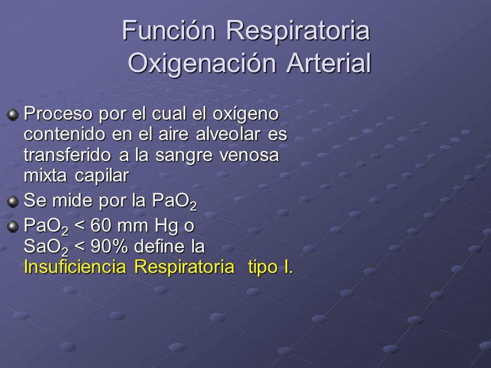 Función Respiratoria Oxigenación Arterial