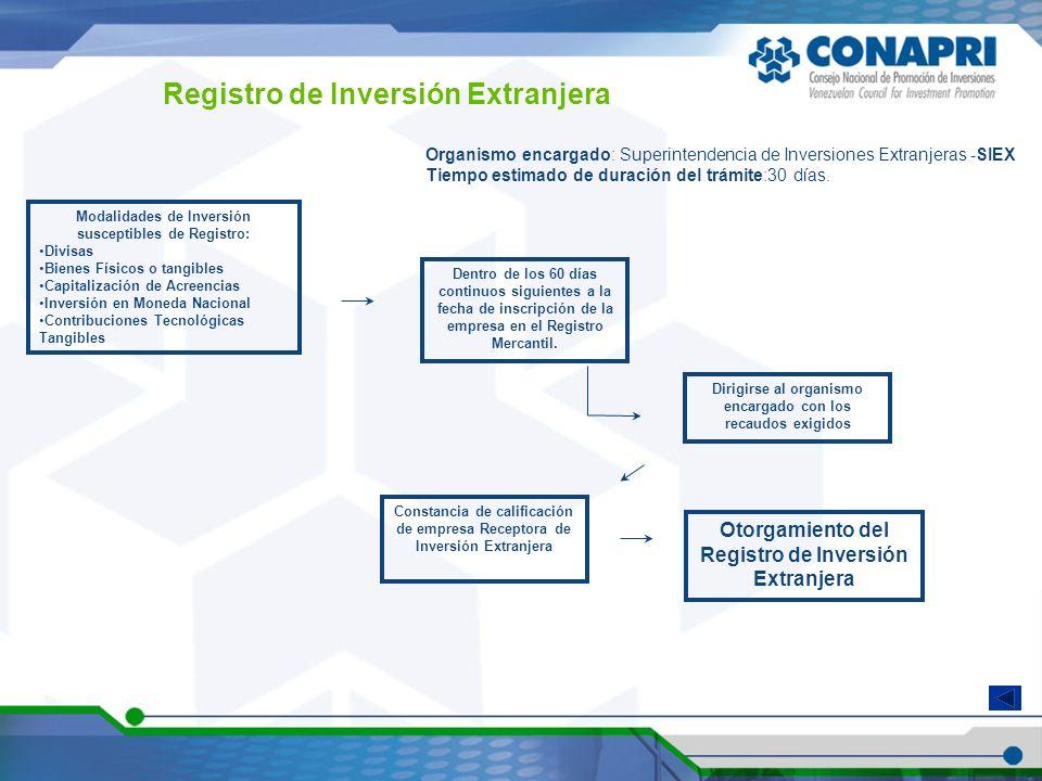 Registro de Inversión Extranjera