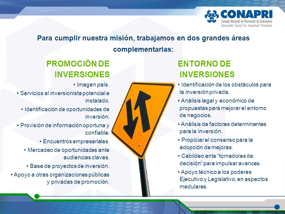 PROMOCIÓN DE INVERSIONES ENTORNO DE INVERSIONES