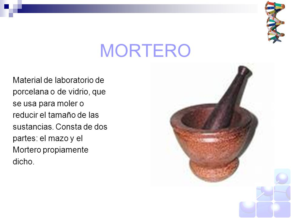 Instrumentos b sicos de un laboratorio ppt video online for Que es un mortero