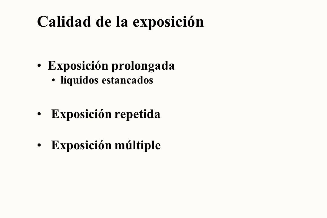 Calidad de la exposición