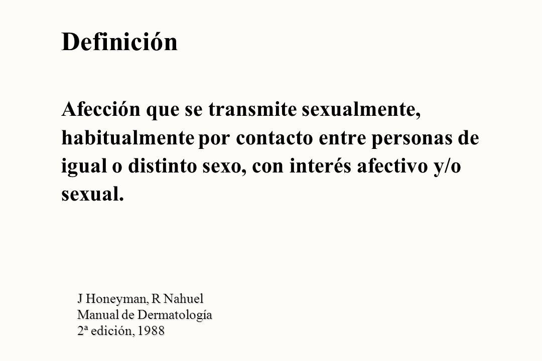 Definición Afección que se transmite sexualmente,
