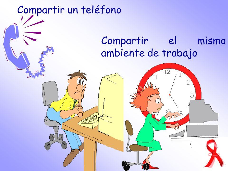 Compartir un teléfono Compartir el mismo ambiente de trabajo