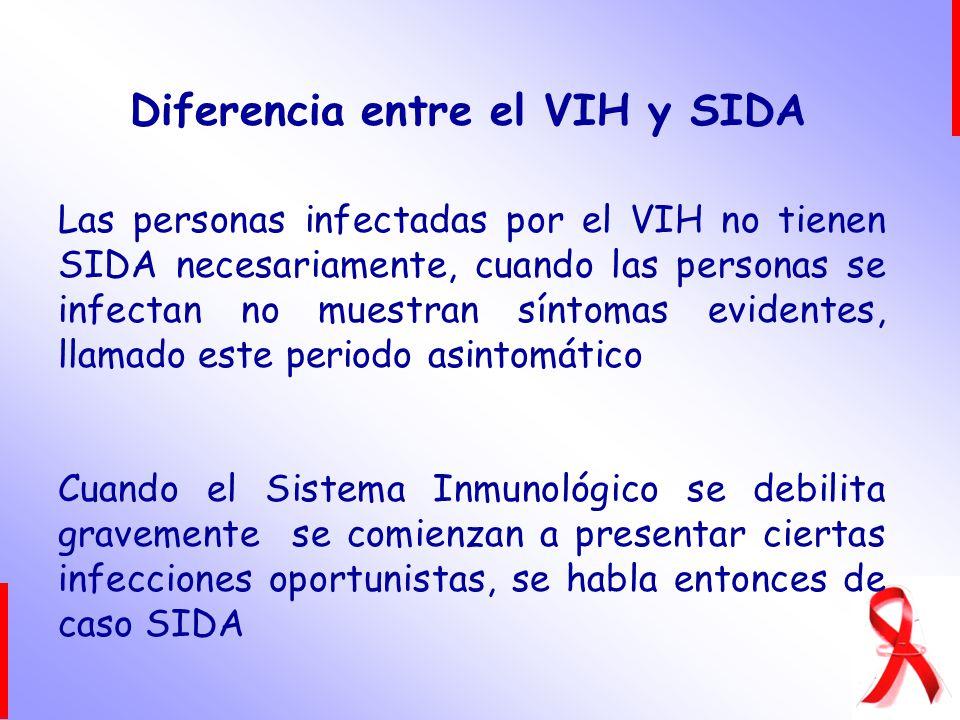 Diferencia entre el VIH y SIDA