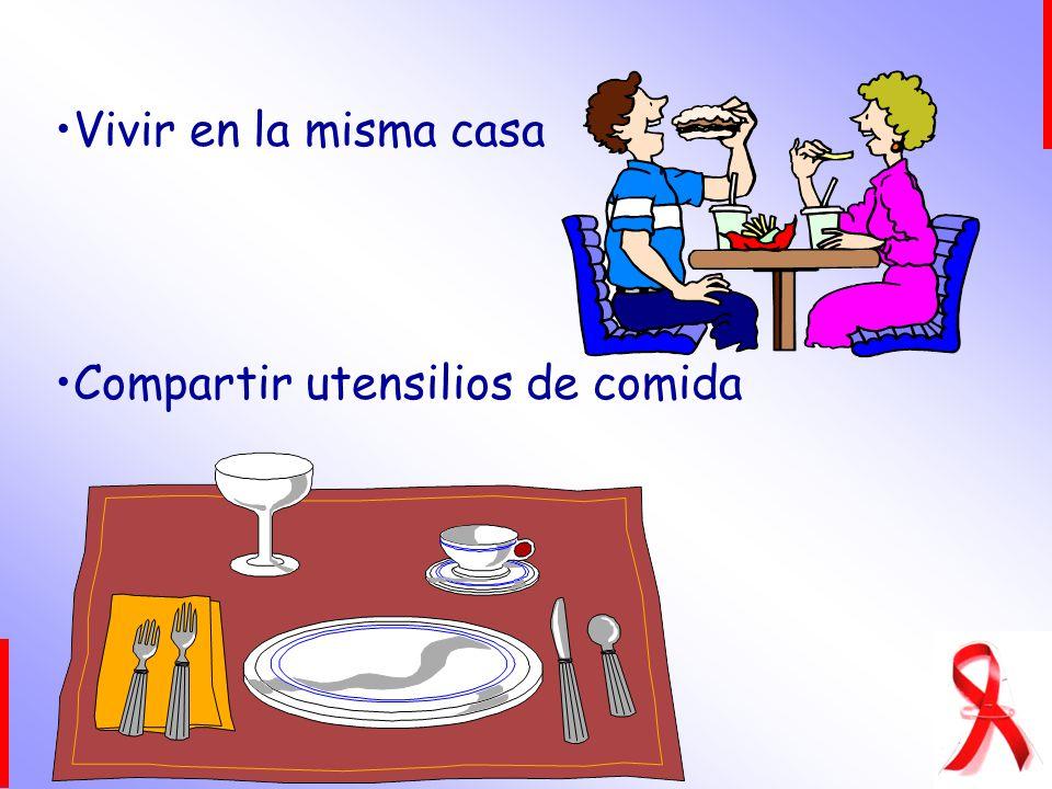 Vivir en la misma casa Compartir utensilios de comida