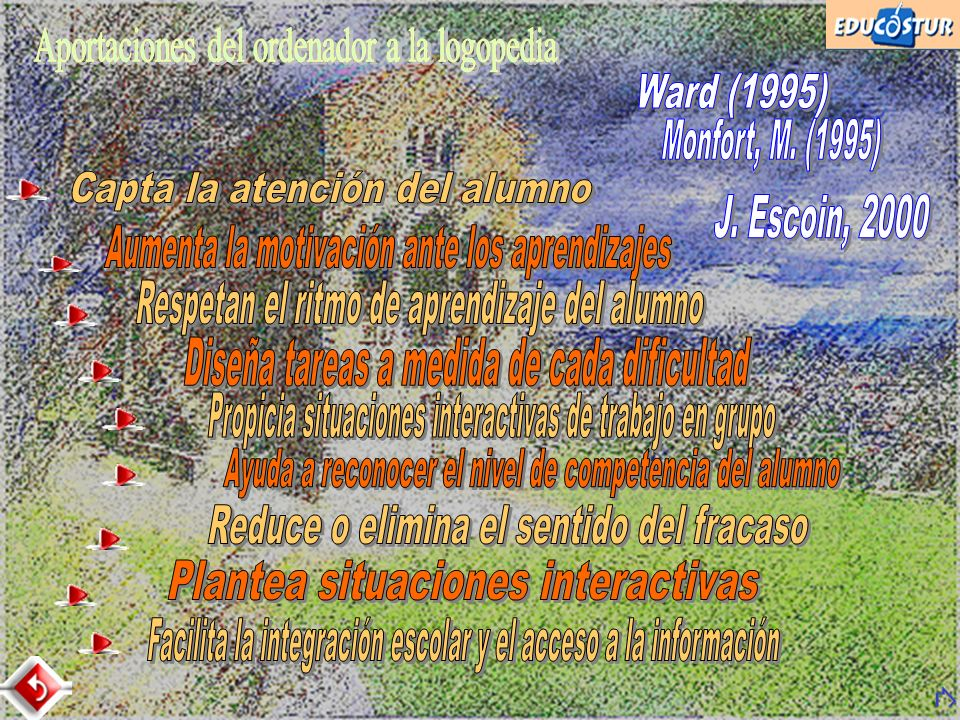 Aportaciones del ordenador a la logopedia Ward (1995)