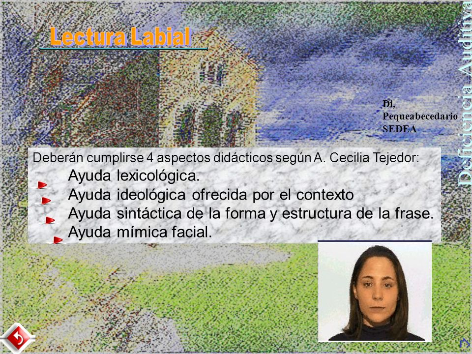 Deficiencia Auditiva Lectura Labial