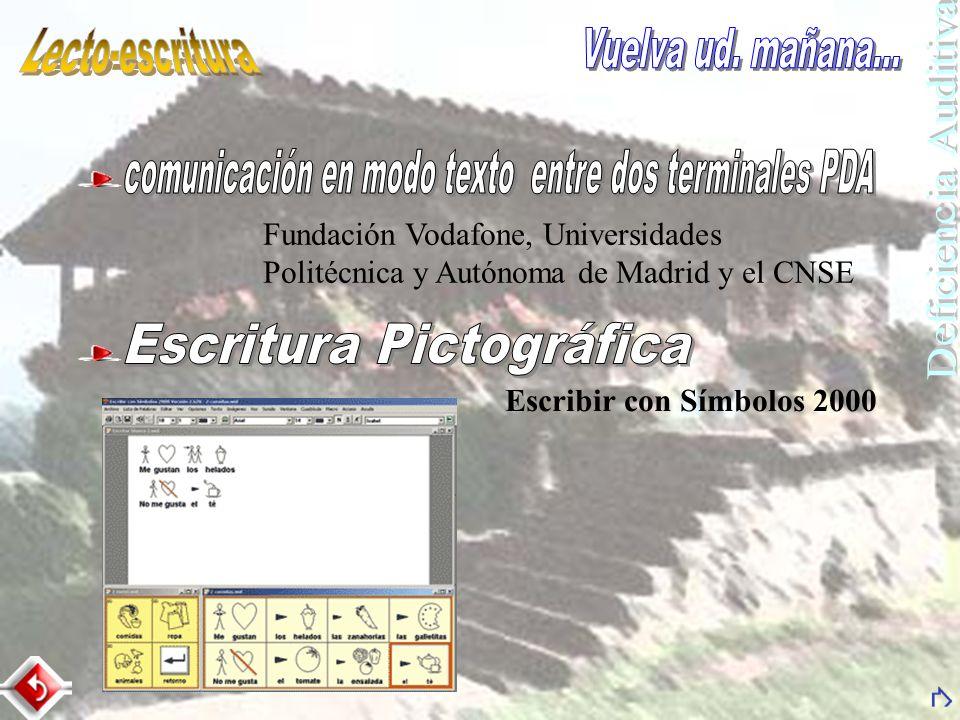 comunicación en modo texto entre dos terminales PDA