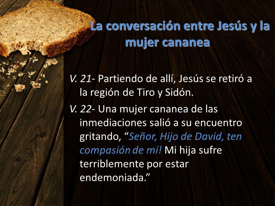 La conversación entre Jesús y la mujer cananea