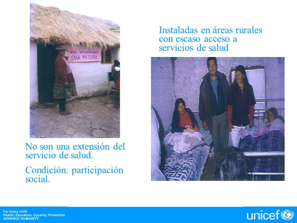 Instaladas en áreas rurales con escaso acceso a servicios de salud