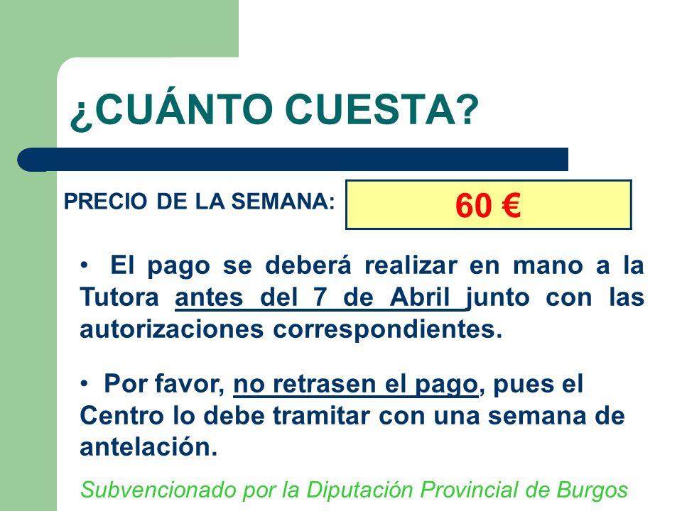 Aulas de la naturaleza reuni n informativa 5 de mayo ppt for Cuanto cuesta una recamara completa