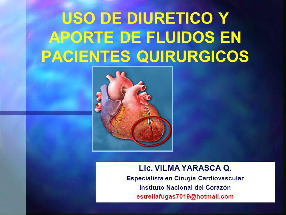 USO DE DIURETICO Y APORTE DE FLUIDOS EN PACIENTES QUIRURGICOS