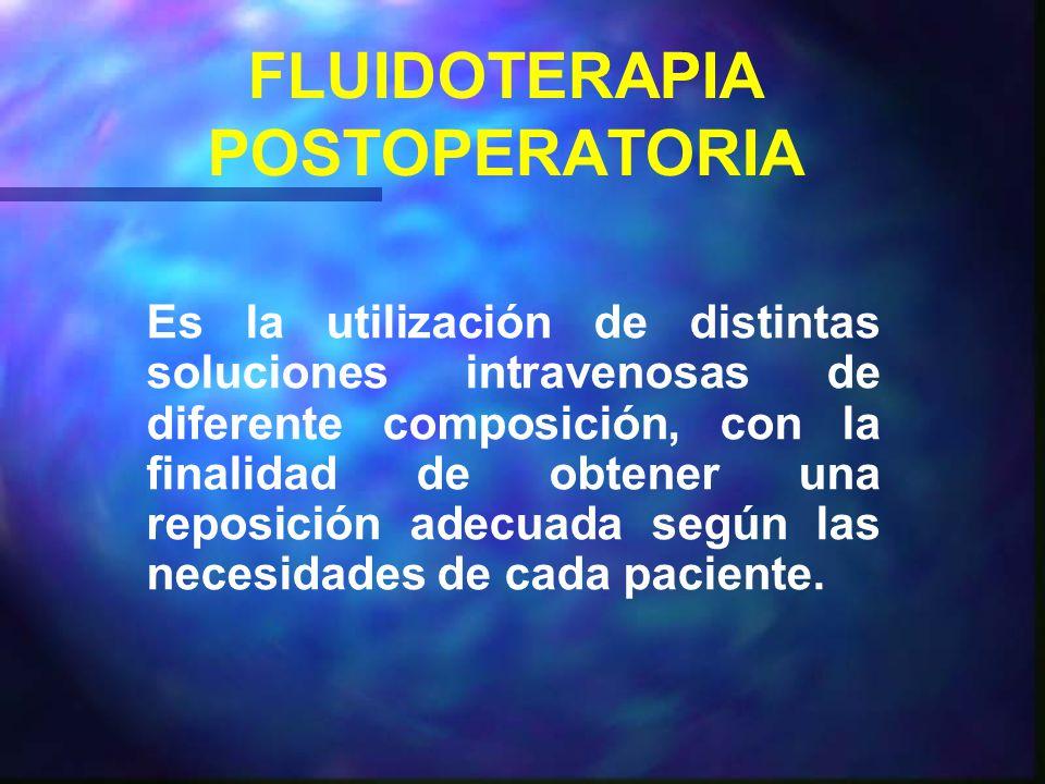 FLUIDOTERAPIA POSTOPERATORIA
