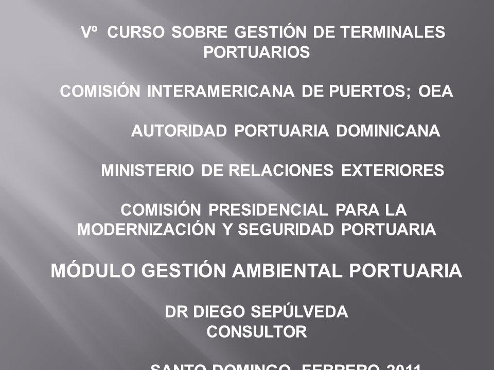 Vº CURSO SOBRE GESTIÓN DE TERMINALES PORTUARIOS