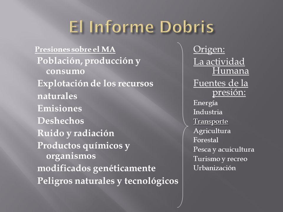 El Informe Dobris Origen: La actividad Humana