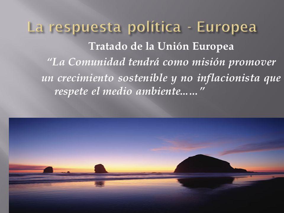 La respuesta política - Europea