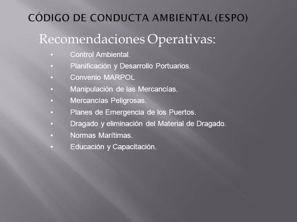 CÓDIGO DE CONDUCTA AMBIENTAL (ESPO)