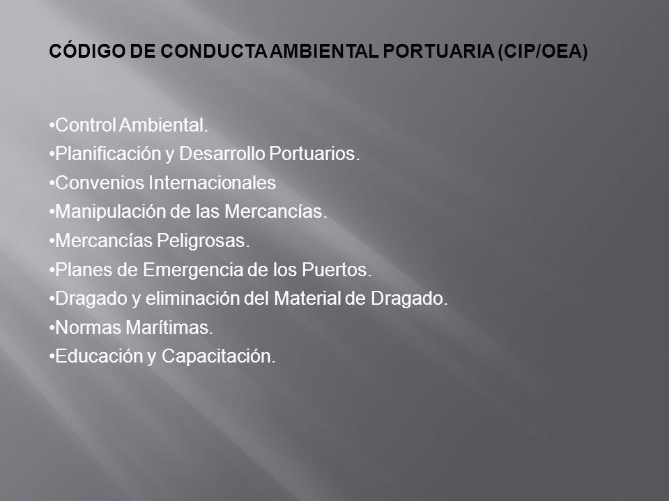 CÓDIGO DE CONDUCTA AMBIENTAL PORTUARIA (CIP/OEA)