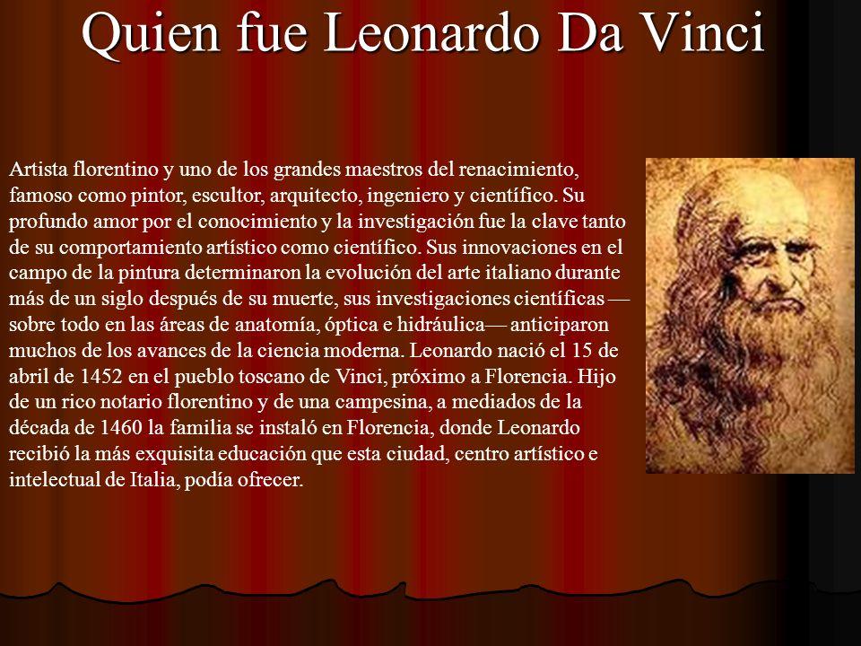 Quien fue Leonardo Da Vinci
