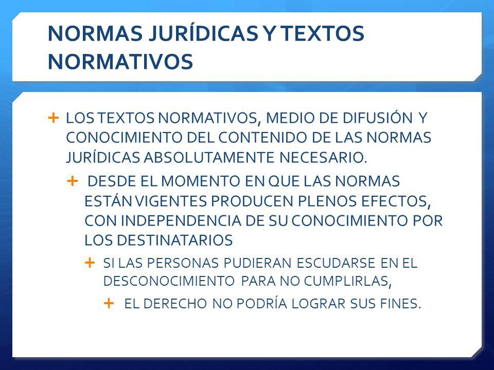 NORMAS JURÍDICAS Y TEXTOS NORMATIVOS