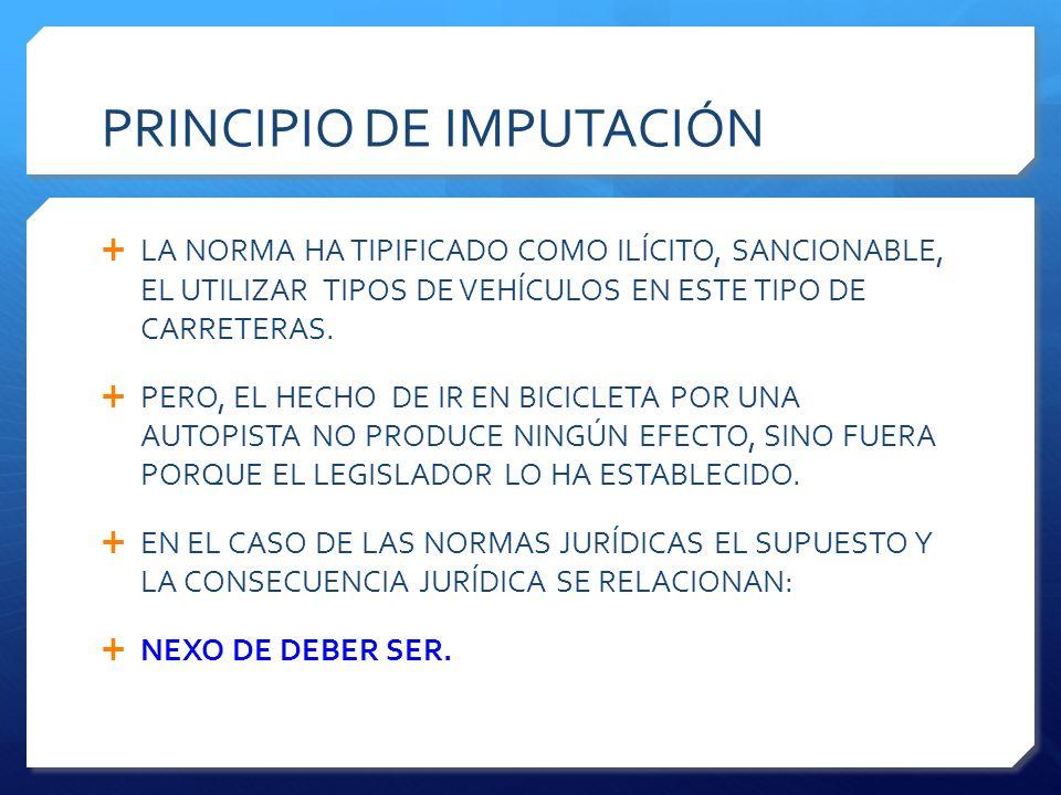 PRINCIPIO DE IMPUTACIÓN